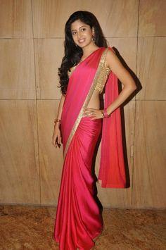 Chiffon+Lace+Work+Plain+Pink+Bollywood+Designer+Saree+-+M1 at Rs 650