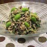 柚子胡椒香る切り干し大根とひじきのサラダ