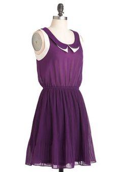 Grape Minds Think Alike Dress, #ModCloth $49.99