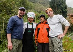 Nick, Rolly, Ruben y Gary. Lares Hike the best experience. Visit us at www.cusitravel.com