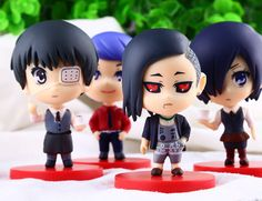 Free shipping 4pcs/set Hot Anime Nendoroid Tokyo Ghoul PVC Action Figure Collectible model Toys 8cm #Affiliate