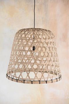 Bamboo Chicken Coop Lampshade
