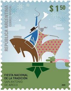 Nueva emisión del correo Argentino San Antonio, Postage Stamps, World, School, Illustration, Cards, Inspiration, Folklore, Design