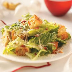 Bacon Caesar Salad Recipe -Family and friends always say my Caesar salad rivals any restaurant version. The addition of bacon lends a slightly smoky flavor and makes it unique.—Sharon Tipton, Orlando, Florida