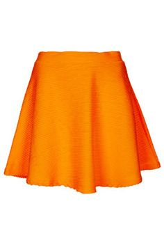 Topshop orange skirt