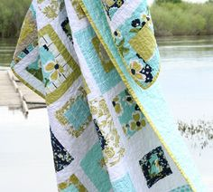 Modern Meadow Quilt   Love the pattern  #quilt