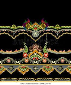 Floral Border, Future Fashion, Textile Design, Royalty Free Stock Photos, Textiles, Shutter, Geo, Illustration, Artist