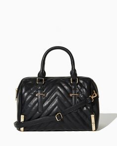 Quilted Chevron Satchel | Fashion Handbags & Purses | charming charlie