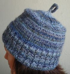 Warm Ears Hat - Taos 100% wool - Crystal Palace Yarns - free knit one ball hat pattern (use 2 balls if you want a taller hat)