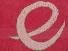 appliqued towel for emily