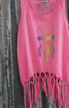 ROAM KIDS PINK FRINGE TANK - Junk GYpSy co.