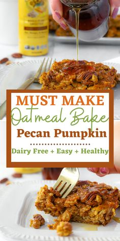 The oatmeal bake that you must make. It is super simple, easy and something everyone in the family enjoys. Perfect for meal prepping for breakfast for the week ahead as well as easy to accommodate to gluten free too. This recipe is naturally dairy free as well.