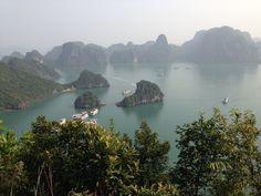 Halong Bay in Halong, Vietnam http://www.vietnamtravel.org/ha-long-bay