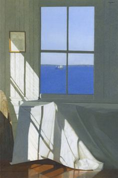 Haynes Galleries - Gary Akers Egg Tempera and Watercolor on Paper Windows. Window View, Open Window, Painting Inspiration, Art Inspo, Through The Window, Windows, Tempera, Oeuvre D'art, Watercolor Paintings