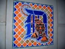 elizabeth witherell | 21. Detroit Tigers Pewabic tile mosaic #1 (c.2000), Comerica Park ...
