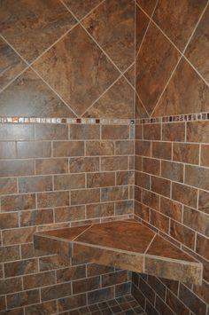 Custom shower tile design by Autumn Whittle of Nonn's Design Showplace.