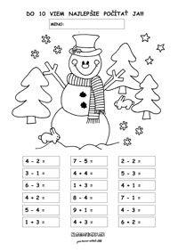 Pracovné listy z matematiky - prváci - Nasedeticky.sk Math Charts, Word Search, Words, High School Graduation, Kindergarten, First Grade, Horse