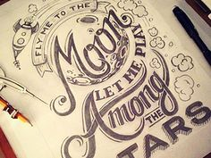 Fly Me To The Moon #lettering #illustration
