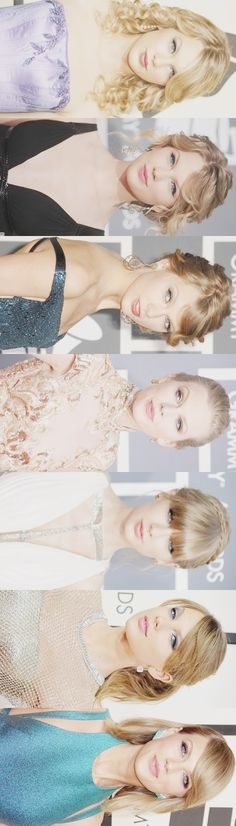 Taylor's fashion at the Grammys throughout the years