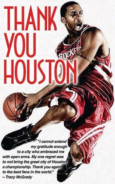 A few days after announcing his retirement on ESPN and Twitter. Tracy McGrady took to Twitter again to thank Toronto, Orlando and Houston with posters.