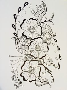 #78 of 365 March 19, 2015 Henna Design. I love drawing henna. Simple, elegant and beautiful! Please like and share! Thanks!