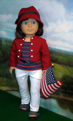 4th of July Tee, Jeans, Jacket and Hat  for Contemporary 18 inch Girls. $56.00.