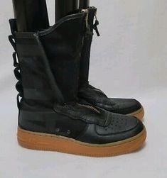 #Nike SF Air Force 1 High Black Gum 2017 - AA3965-001 Womens Sz US 7.5 EU 38.5 | eBay West New York, Air Force 1 High, Black Gums, Athletic Shoes, Nike, Boots, Women, Self, Crotch Boots