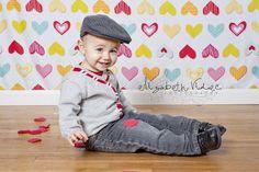 Valentine Mini Session Portraits with Elizabeth Videc Photography heart backdrop
