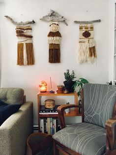 Neutral Weaving Triptych - House of Woolly Thyme