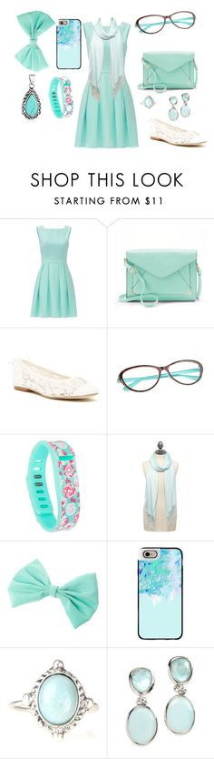 """Minty in Green"" by converse7103 ❤ liked on Polyvore featuring Kate Spade, Apt. 9, Soludos, Fitbit, M&Co, Casetify, Rina Limor and Bling Jewelry"