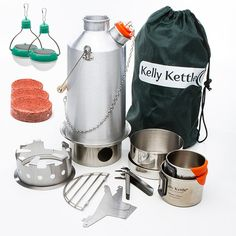 Ultimate Aluminum BaseCamp Outdoor Camping Kettle. ON SALE $142.95 Includes all Kelly Kettle accessories + FREE shipping and 2 FREE solar lights! This is absolutely the best value for your money. Great Fathers Day gifts, or any time your looking for great gifts for dad! #FathersDayGifts #GiftsForHim #CampingGear