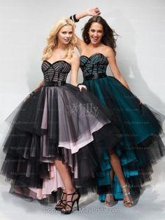 A-line Sweetheart Black Beading Tulle Asymmetrical Formal Dress at Millybridal.comcomes in lavendar