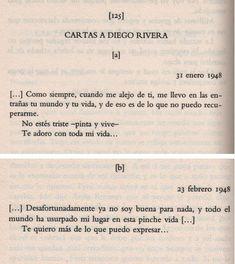 Cartas de Frida a Diego Rivera