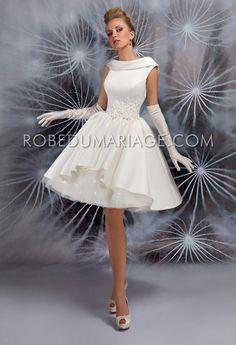 Robe de mariée vintage civile courte pas cher