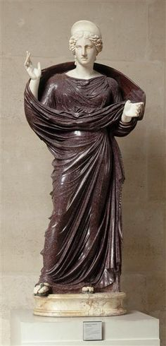 Unknown empress, Roman statue (marble, porphyry), 2nd century AD, (Musée du Louvre, Paris).  More At FOSTERGINGER @ Pinterest