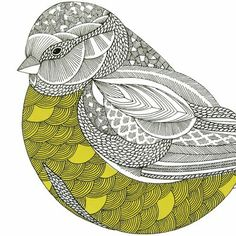 Bill Giyaman posted millie marotta zentangle to their -birds- postboard via the Juxtapost bookmarklet. Art And Illustration, Illustrations, Doodles Zentangles, Zentangle Patterns, Tangle Art, Pintura Country, Art Plastique, Bird Art, Beautiful Birds