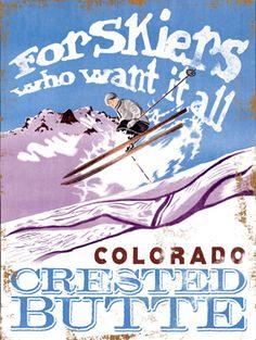 CUSTOMIZABLE Vintage Colorado Ski Wood Sign Art