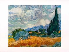 Vincent van Gogh - Cypress Trees