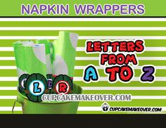 Cute and unique Ninja Turtles inspired napkin rings. The wrappers and shells are separate allowing you to combine 4colors with letters of your choice.