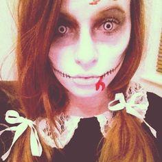 Amazing face make up. Halloween Doll, Halloween Fancy Dress, Diy Halloween Costumes, Halloween Cosplay, Halloween Make Up, Halloween Ideas, Halloween Party, Fancy Dress Diy, Doll Face Paint
