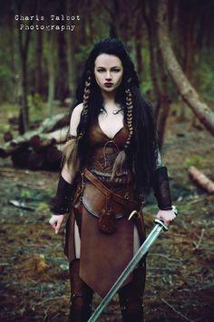 Warrior girl, leather