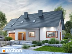 Dom w afaskach Sweet Home, New Homes, Real Estate, House Design, House Styles, Garden, Outdoor Decor, Houses, House Exteriors