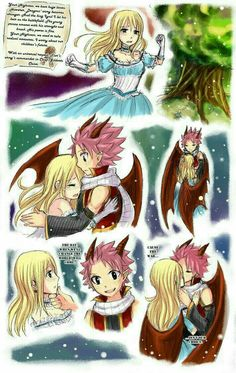 Image - Princesse Lucy et Prince dragon Natsu Natsu Fairy Tail, Fairy Tail Lucy, Fairy Tail Ships, Art Fairy Tail, Fairy Tail Amour, Fairy Tail Comics, Fairy Tail Guild, Fairy Tales, Anime Fairy