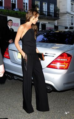 Victoria Beckham. way to wear a jumpsuit