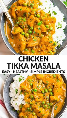 This easy chicken tikka masala recipe is healthy and made with ingredients you can find at any grocery store. Not too spicy, healthy, and filled with authentic Indian flavor, it features tender chicken simmered in a rich tomato yogurt sauce. #indianrecipes #tikkamasala #wellplated via @wellplated Easy Chicken Tikka Masala, Tikka Masala Sauce, Easy Chicken Curry, Chicken Tiki Masala, Healthy Indian Recipes, Easy Indian Chicken Recipes, Authentic Indian Recipes, Keto Indian Food, Indian Foods