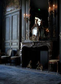 Gothic black interior decadence