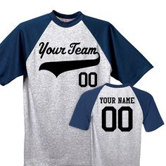 450c98d3fc Classic Color Block Short Sleeve Custom Baseball Jerseys for the Whole  Family Customized with Team Logo, Names and Numbers