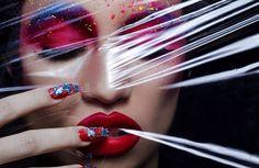 Conceptual Cosmetic Closeups : Georgia May Jagger
