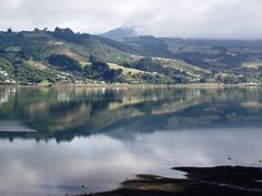 Mirrored reflections, Otago Peninsula, New Zealand. Photographs, Photos, New Zealand, Mirrors, River, Mountains, Places, Outdoor, Image