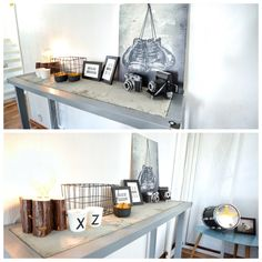 Homemade console table